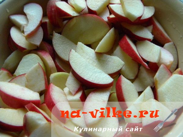 Яблоки дольками для сушки