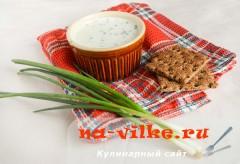 Соус-дип с зеленым луком