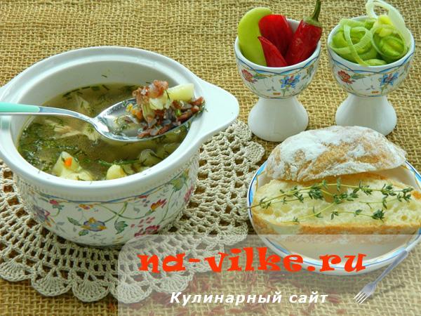 Суп с рисом Рубин и цветной капустой