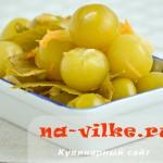 Физалис маринованный с чесноком — рецепт с фото