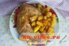 Куриная четверть запеченная в духовке с картофелем