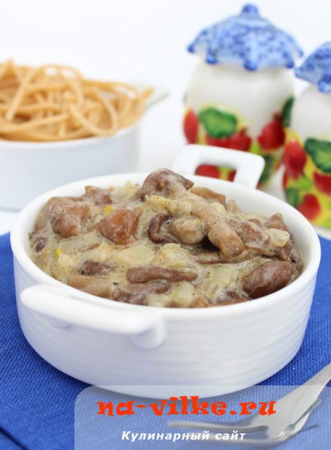 Быстрый грибной соус из опят