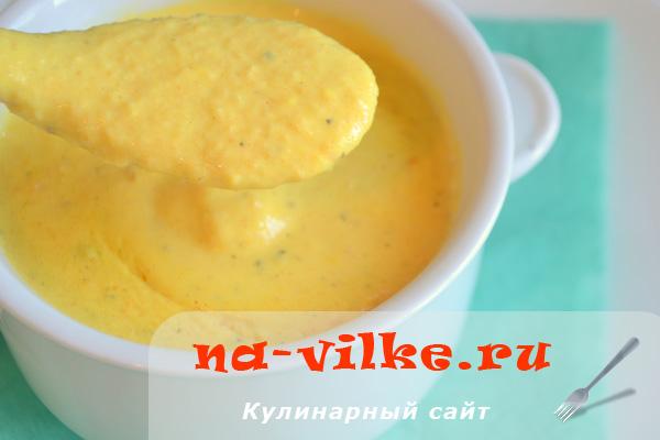 Суп-пюре из моркови и пастернака