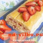 Клубничный торт тирамису (без выпечки)