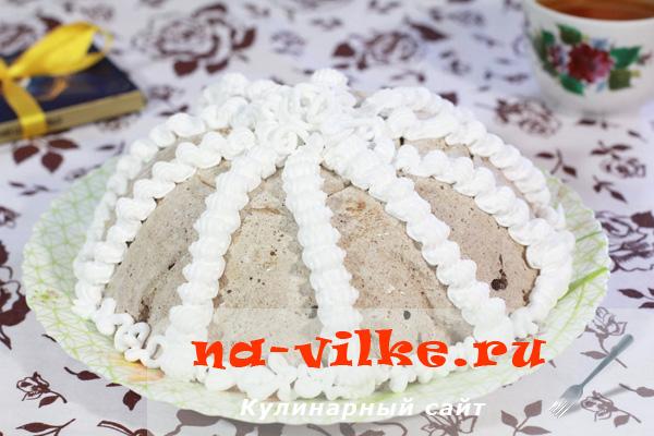 Желейный торт из взбитых сливок