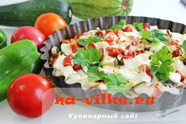 Запеканка из индейки с овощами