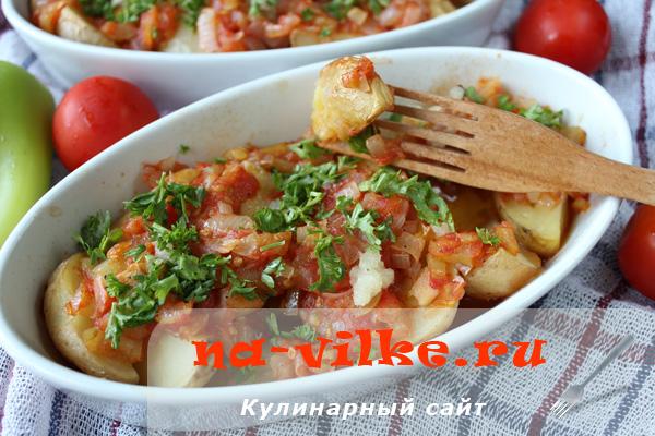 Молодой картофель в духовке под томатным соусом