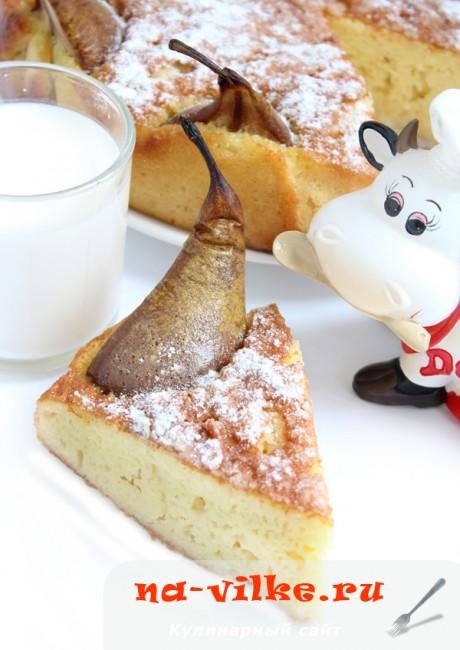 Пирог Три молока с грушами