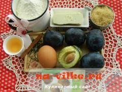 Кубанские сливы и другие продукты для сладкого пирога