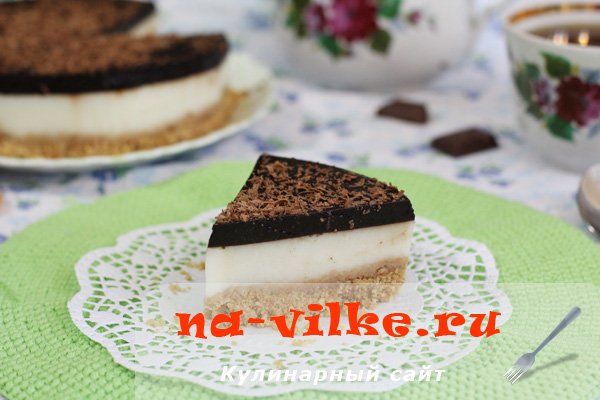 Желейный торт без выпечки - кусок порционный