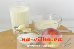 Продукты для манной каши с фруктами