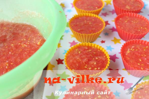 Как заморозить помидоры в формочках