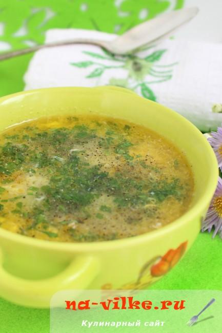 Куриный суп «Паутинка» с вермишелью