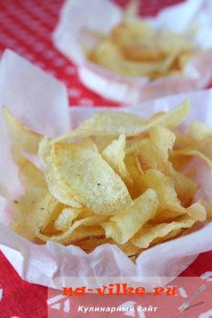 Домашние чипсы из картофеля