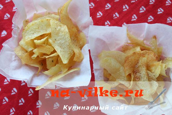 Домашние хрустящие чипсы из картофеля во фритюре