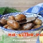 Золотистый запеченный картофель, приправленный розмарином и цедрой лимона