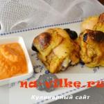 Куриные окорочка с черносливом