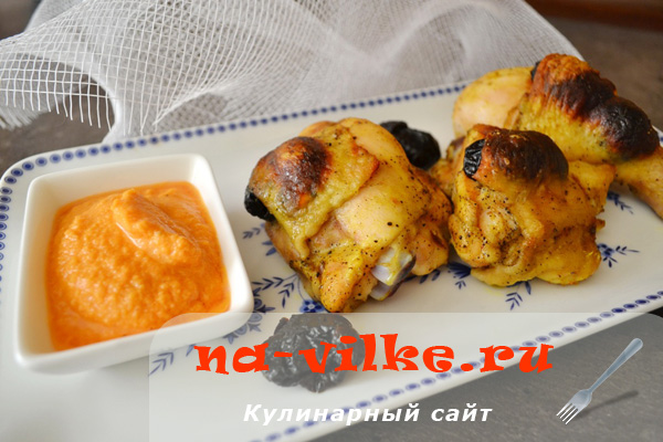 Курица с черносливом в томатном соусе – кулинарный рецепт