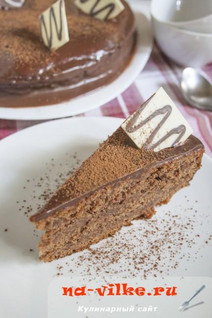 Очень шоколадный торт на кислом молоке