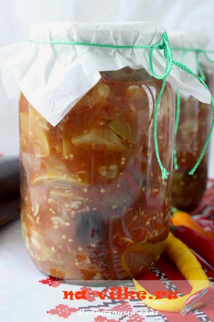 Соте из баклажанов и кабачков