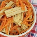 Салат из спаржи и моркови по-корейски