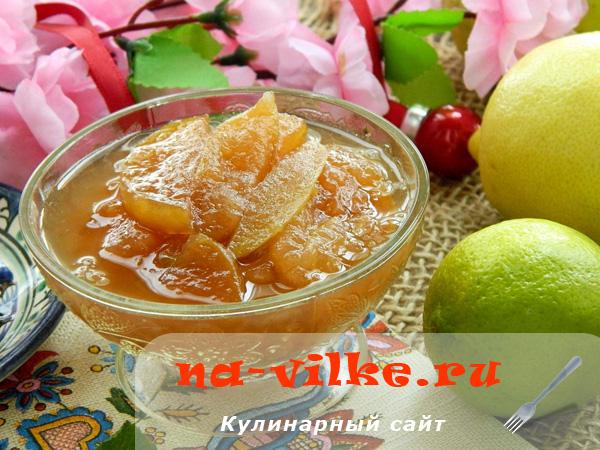 Нежное варенье в мультиварке из яблок с лимоном