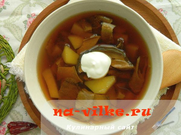 Суп грибной в мультиварке из сушеных белых грибов