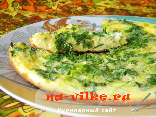 Омлет с болгарским перцем и сыром в мультиварке