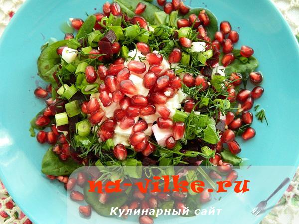 Салат из отварных свеклы и картофеля