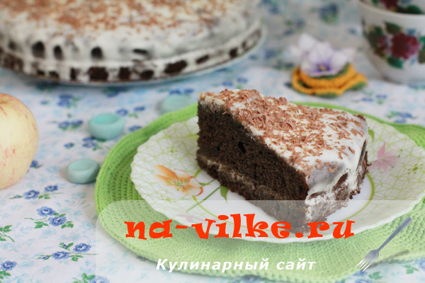Торт из черемуховой муки