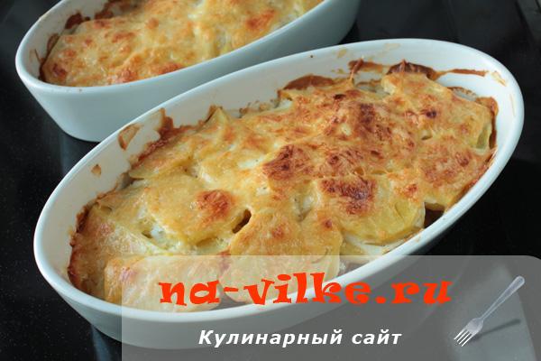 Картофельная запеканка с мясом или Картофельный гратен