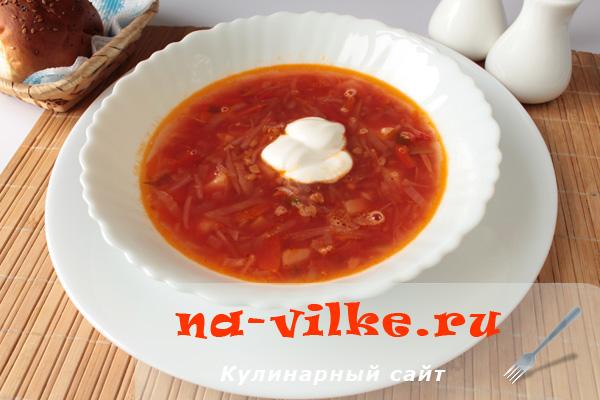 Приготовление аппетитного украинского борща с горохом
