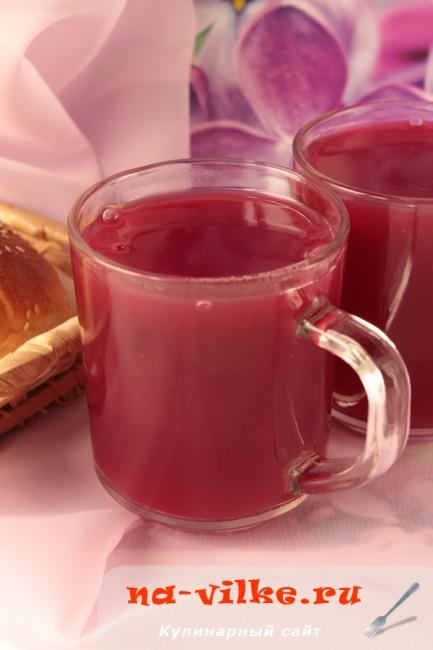 Кисель из замороженных ягод вишни