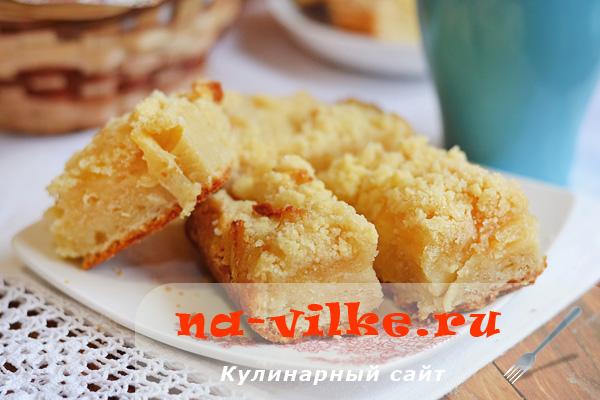 Фруктовый пирог с ананасами на газировке