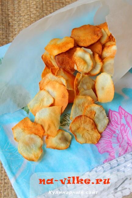 Домашние чипсы из топинамбура