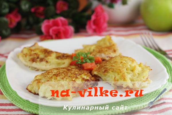 Кальмары с сыром и картофелем в духовке
