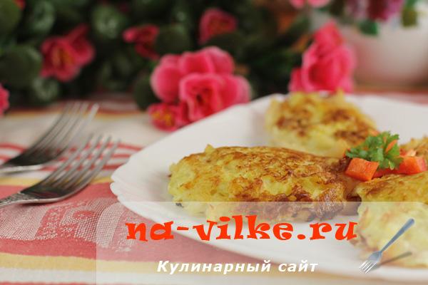 Кальмары в шубке из сыра и картофеля