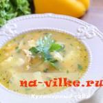 Необычный суп из курицы с добавлением кунжутных клецок