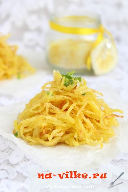 Картофель с лимонной солью