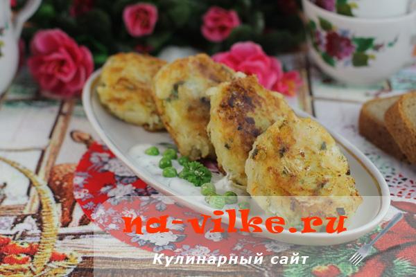 Диетические картофельные котлеты с квашеной капустой