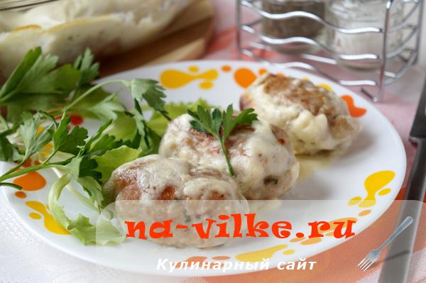 Котлеты из свинины под соусом Бешамель