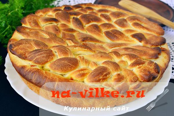 Капустный пирог Косичка