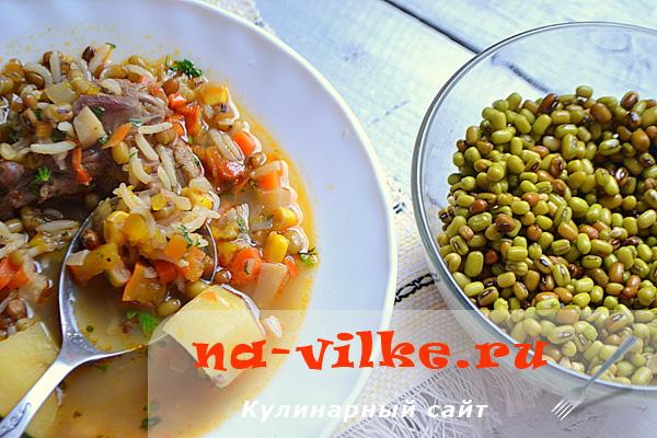 Суп машхурда с машем, рисом и уткой