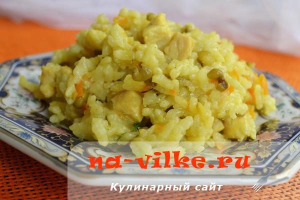 Рис с машем и куриным филе
