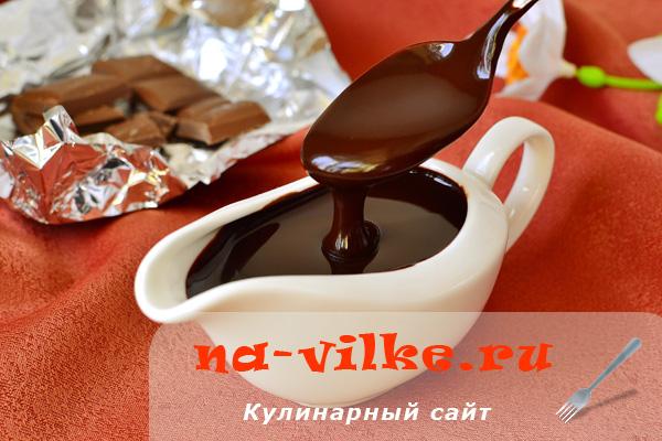 Шоколадный соус из порошка какао