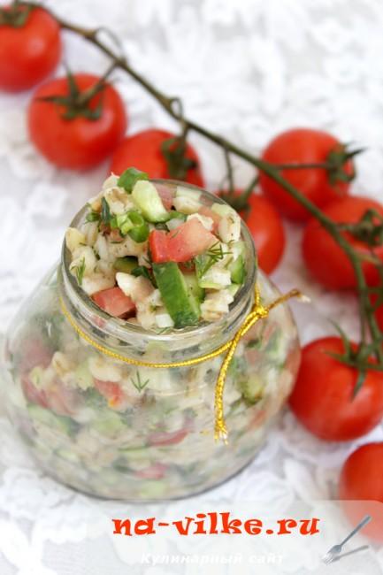 Салат с перловкой