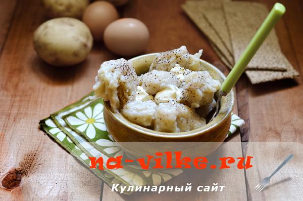 Готовим украинские галушки из картофеля и муки