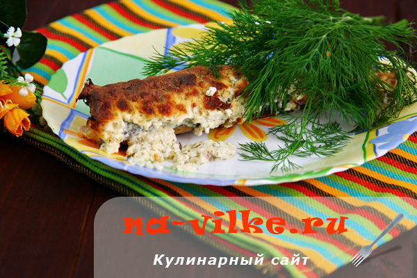 Скумбрия, запечённая в духовке в сметанном соусе