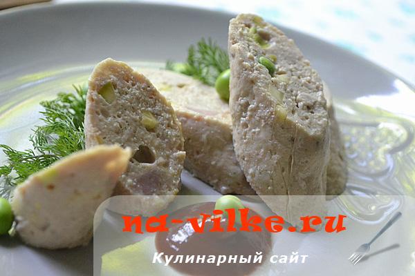 Колбаса из телятины и овощей