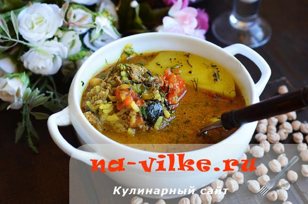 Аппетитный суп кюфта бозбаш по кавказской рецептуре